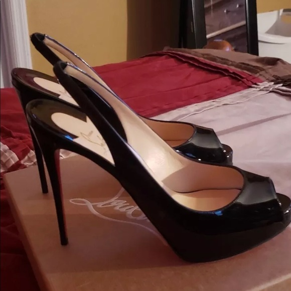 883154549c7 Christian Louboutin Private Number Peep Toe Pump NWT